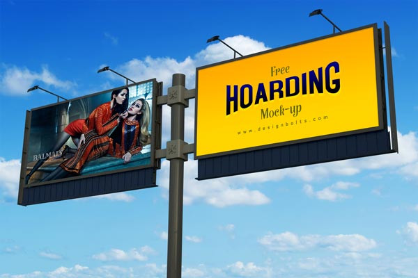 Advertising Hoarding Mockup Free PSD