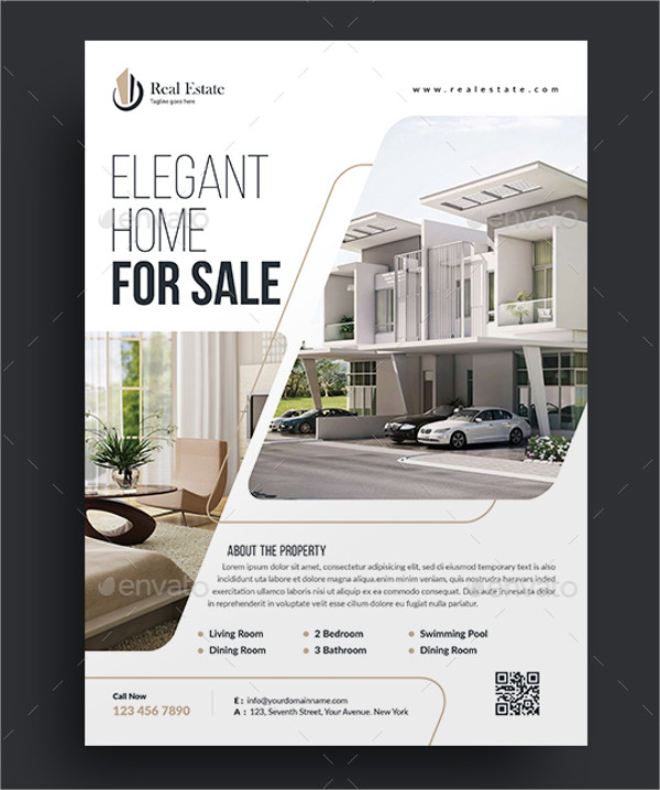 Elegant Home for Sale Flyer