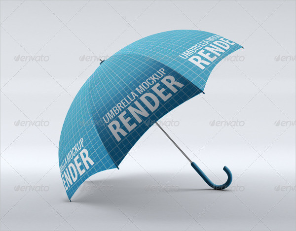 Advertising Umbrella Mock-Up