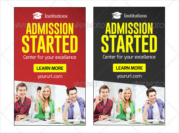 Animated Education Marketing Banners