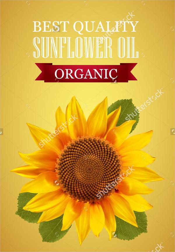Sunflower Oil Label Template