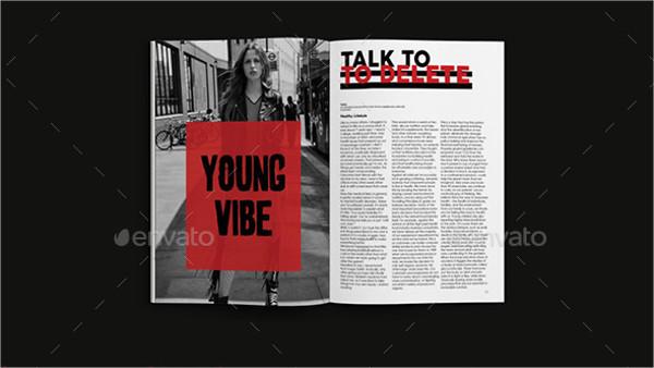 Lifestyle Minimal Magazine Template