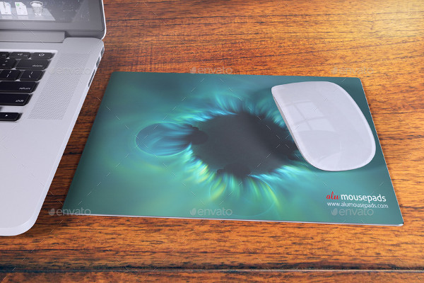 Aluminium Mouse Pad Mock-Up
