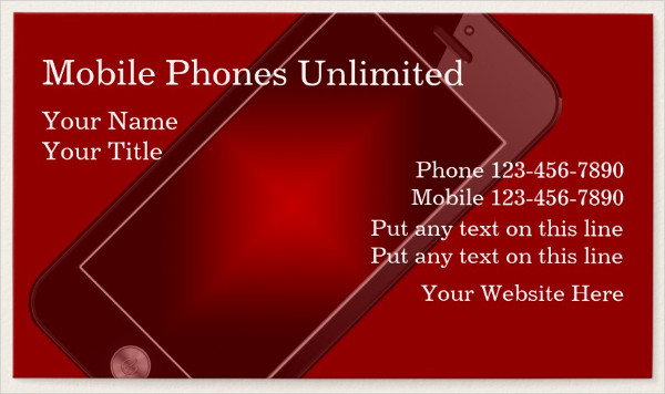 Amazing Mobile Phones Business Card