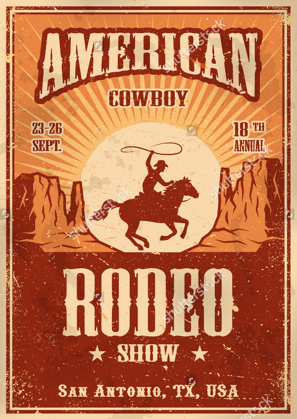 American Country Cowboy Poster