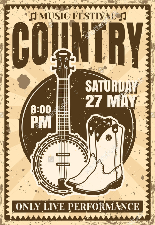 Music Festival Country Poster