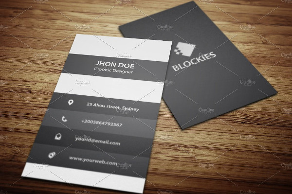 An Exclusive Vertical Business Cards
