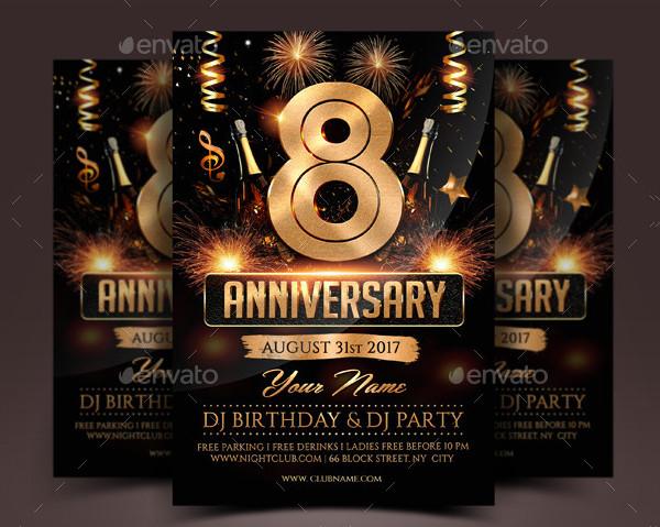 Anniversary Celebration Flyer Template Design
