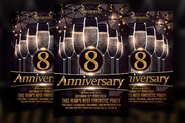 Anniversary Bash Flyer Template