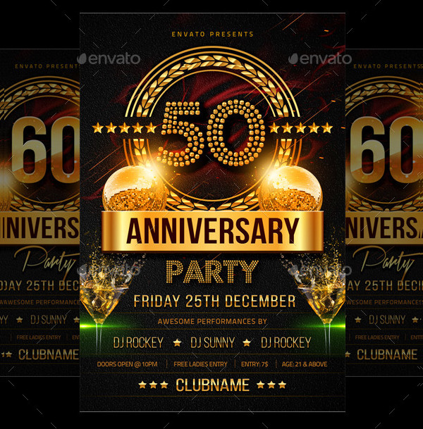 Anniversary Colorful Party Flyer