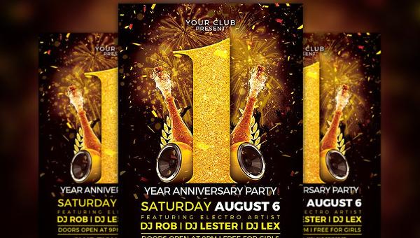 Anniversary Flyer | 29 Anniversary Flyer Templates Free Premium Download