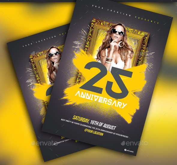 Special Anniversary Flyer Template