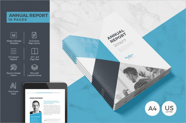 Annual Report 16 Pages Brochure Template