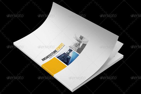 A4 Letter Portrait Architecture Brochure