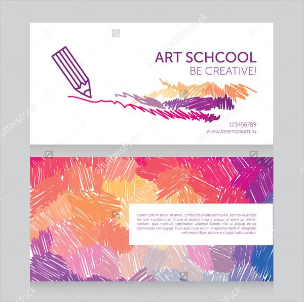 Art School Business Cards Template