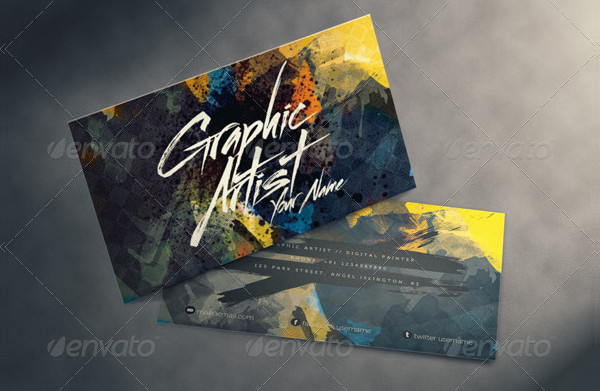 Business Card for Artists Designer