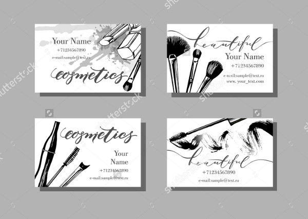 Salon Artist Vector Business Cards