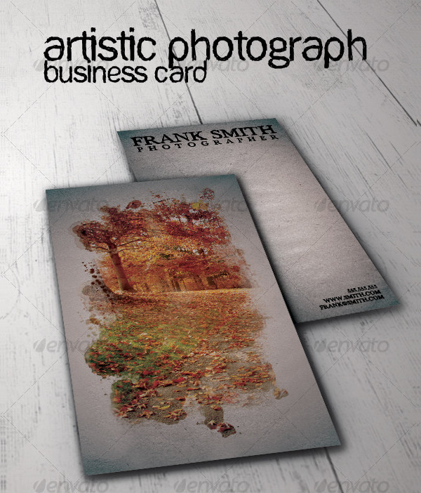 Artistic Photograph Business Card Template