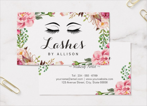 Artist Romantic Floral Business Card