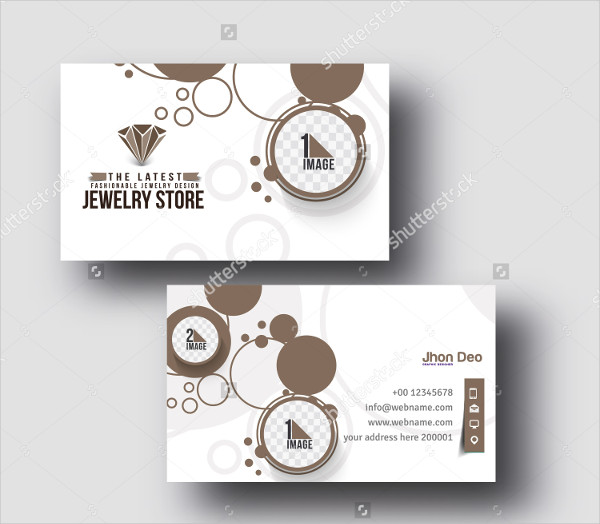 Set of Jewelry Store Business Cards