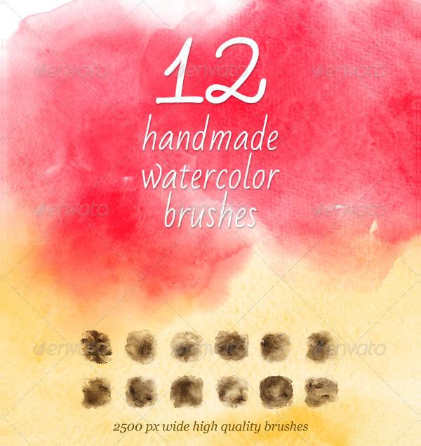 12 Watercolor Handmade Download