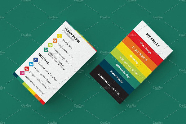 39 social media business card templates free premium download attractive social media business card template accmission Image collections