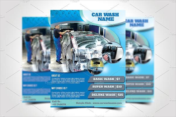 Creative Car Wash Flyer Template