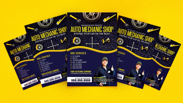 23 Auto Repair Flyer Templates Free Premium Download