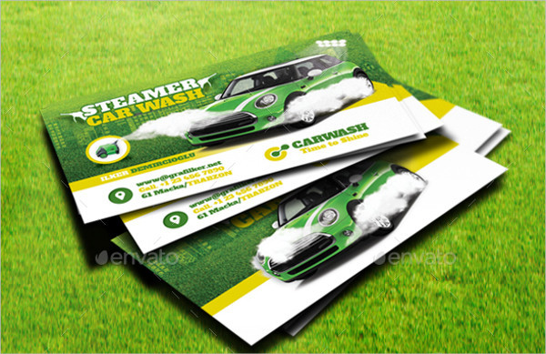 Unique Car Wash Business Card Template