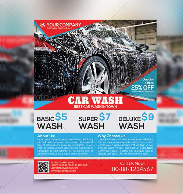 Car Wash Editable Flyer Template