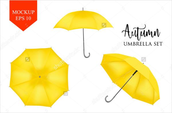 Autumn Umbrellas Mock-Up Set