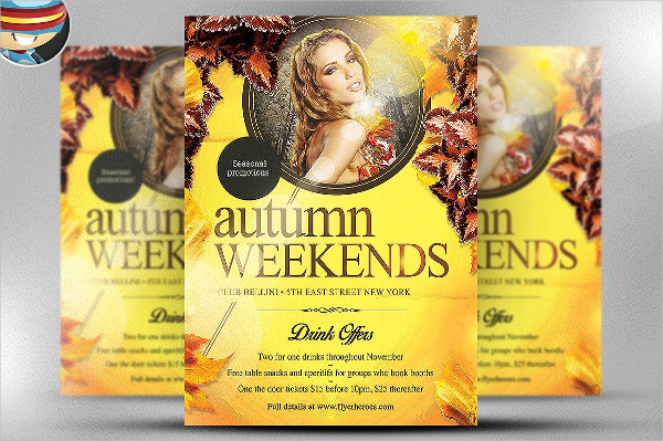 Autumn Weekends Party Flyer Template