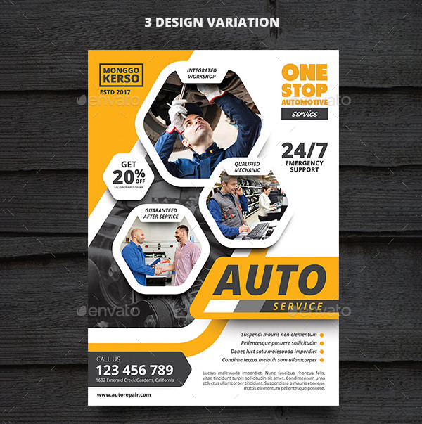 Awesome Auto Repair Service Flyer Template