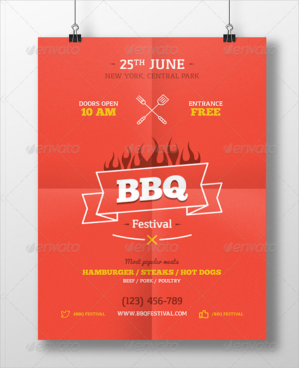 Poster Template for BBQ Party