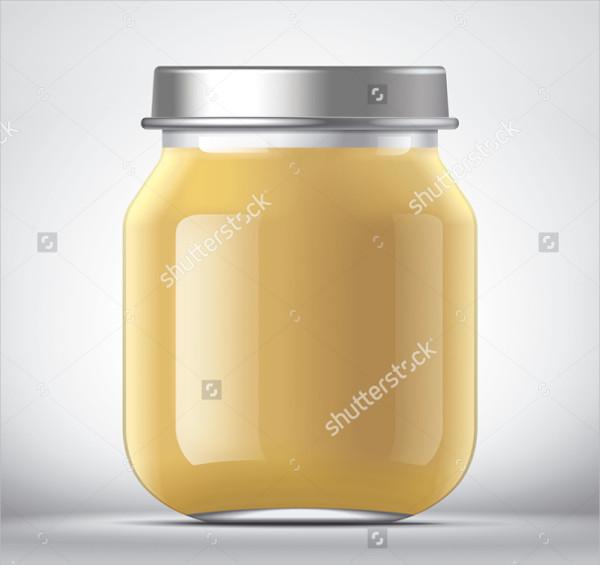 Baby Food Packaging Jar Mockup