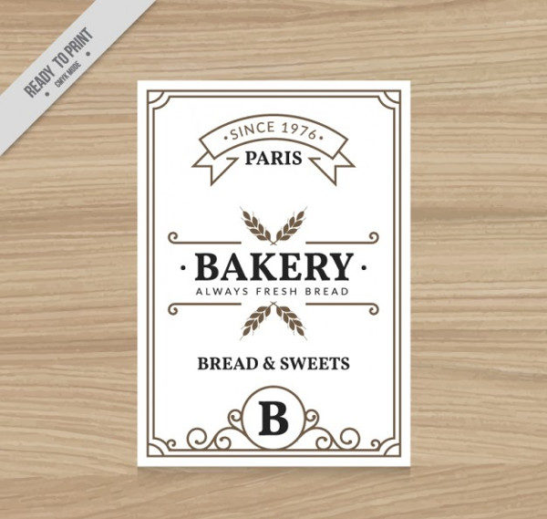 Bakery Vintage Style Flyer