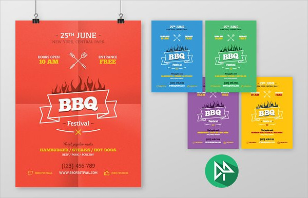 BBQ Party Posters Design