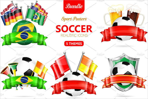 3D Soccer Posters Online