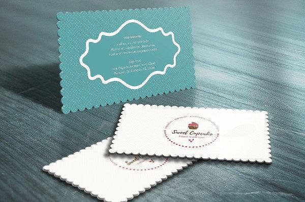Beautiful Cake Bakery Die Cut Business Cards