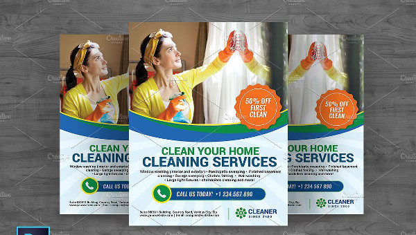Cleaning Service Marketing Flyer Template