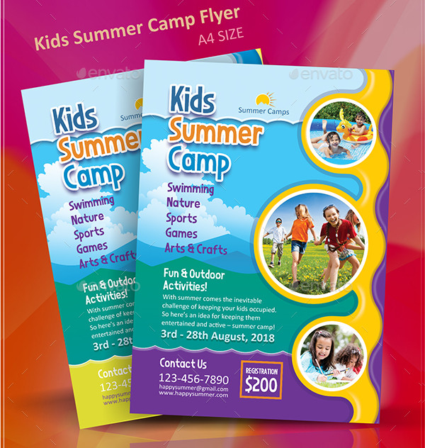 Beautiful Kids Summer Camp Flyer Design