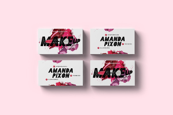 Beauty Artist Business Card Template