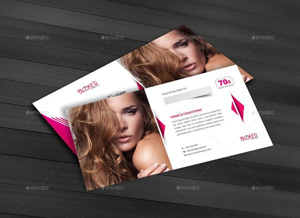 Fashion Beauty Gift Voucher Template