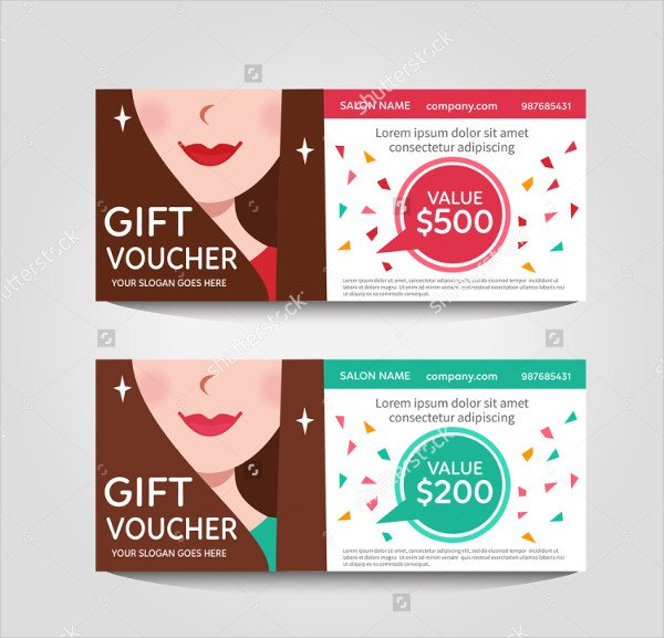 Beauty Salon Gift Voucher Template