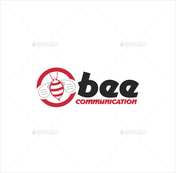 Bee Communication Logo Template