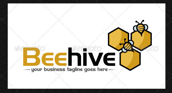 Bee Hive Logo Template
