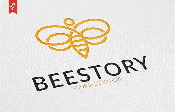Best Bee Story Logo Template