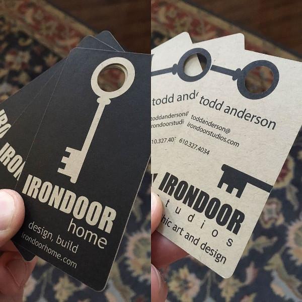 Iron Door Die-Cut Business Cards