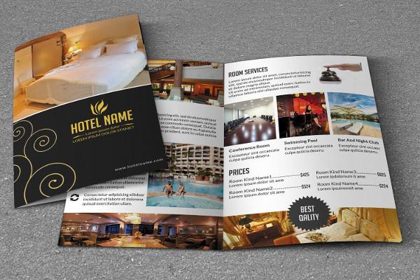 Bi-Fold Brochure Template for Hotel Business