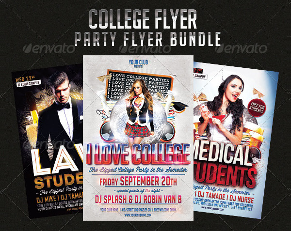 Big College Party Flyer Templates Bundle